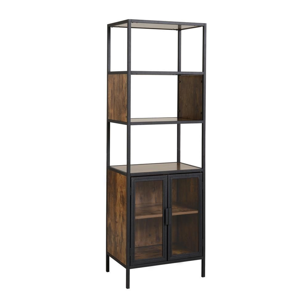 homestar hamilton antique wood metal and wood media storage with rh pinterest com
