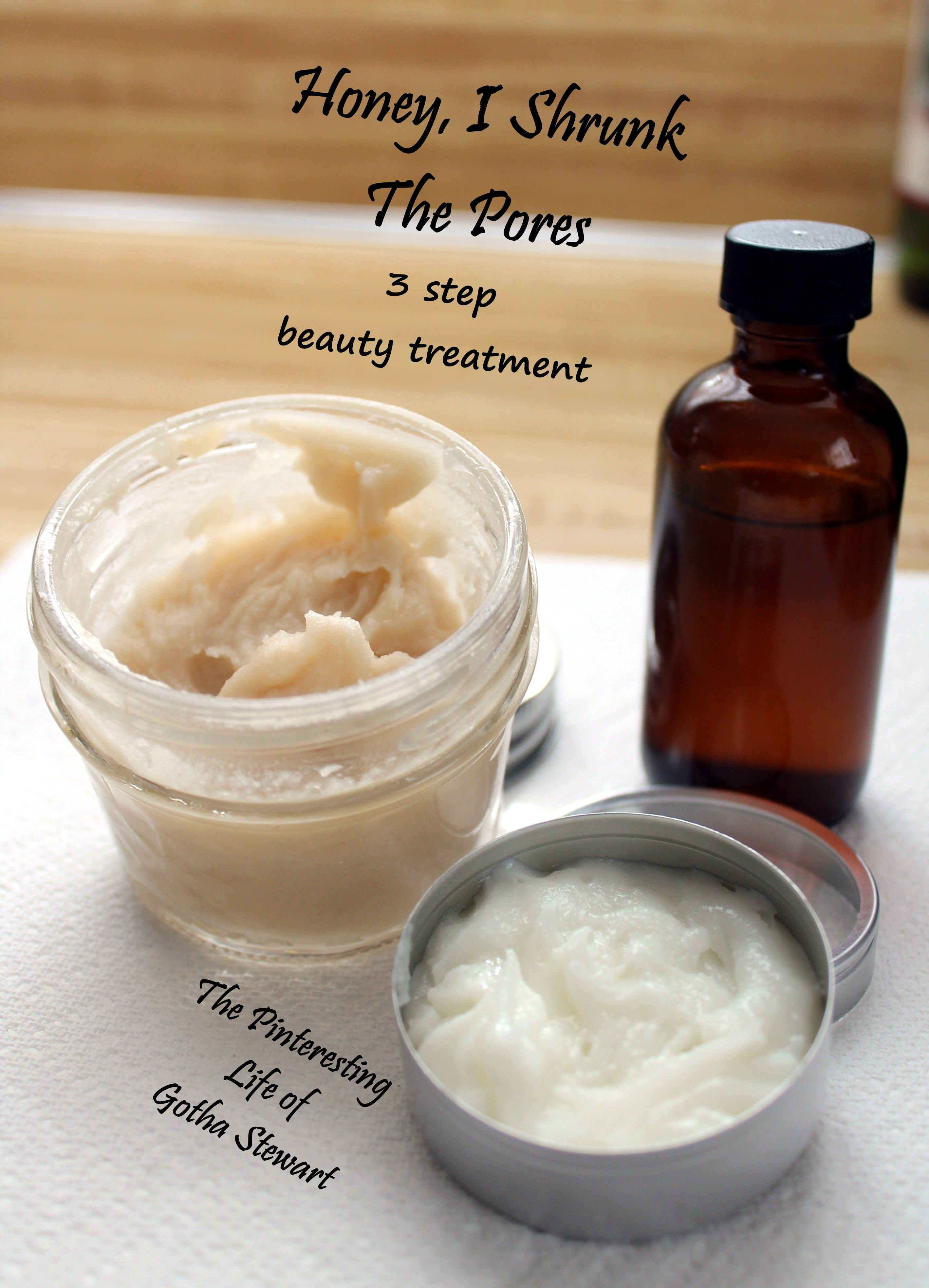 DIY natural sensitive skin Cleanser with honey, toner and anti-aging face cream. The anti-aging ointment works amazing!