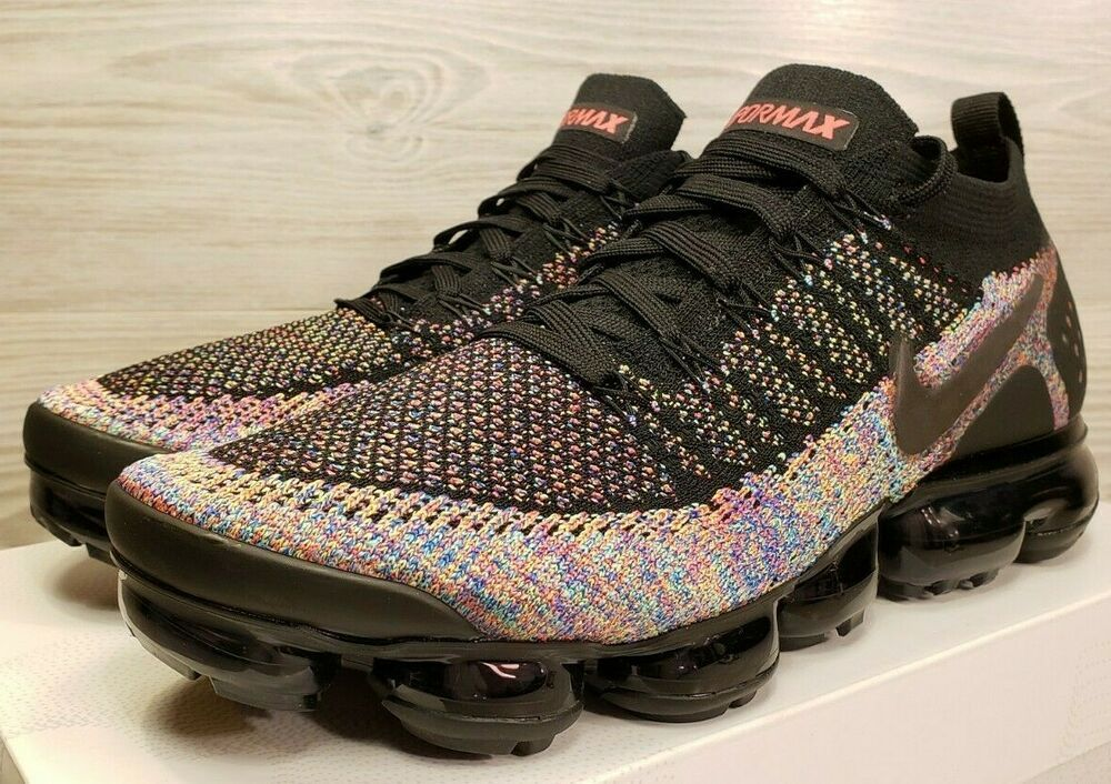 ee8b22df0946 Nike Air VaporMax Flyknit 2 Black Racer Pink Running Training 942842-017  Pick Sz  shoes  kicks  solecollector
