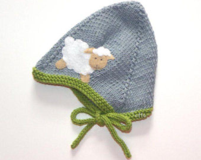 Grau und grün Baby Hut mit weißen Schafe Baby pilot Hut Neugeborene ...