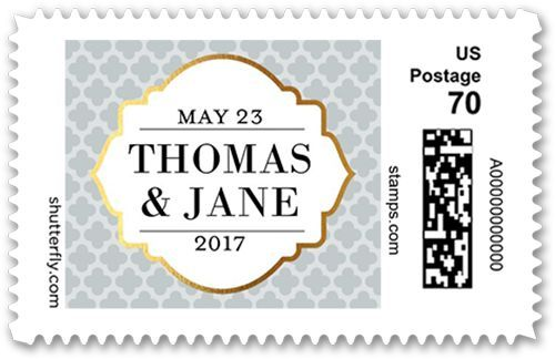 Patterned Date Small Personalized Postage Stamps   Products