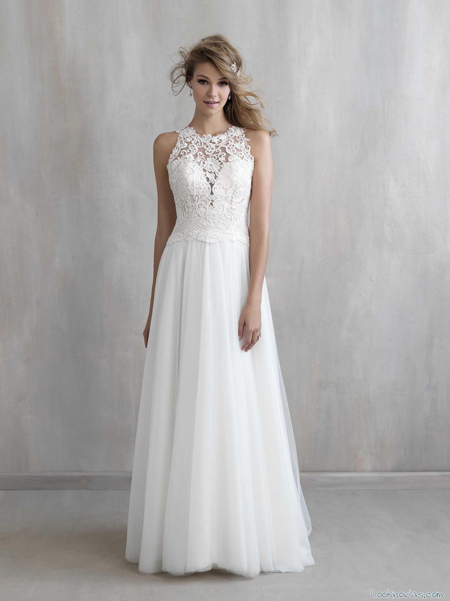 vestido blanco de novia de sencilla caída | Wedding | Pinterest ...