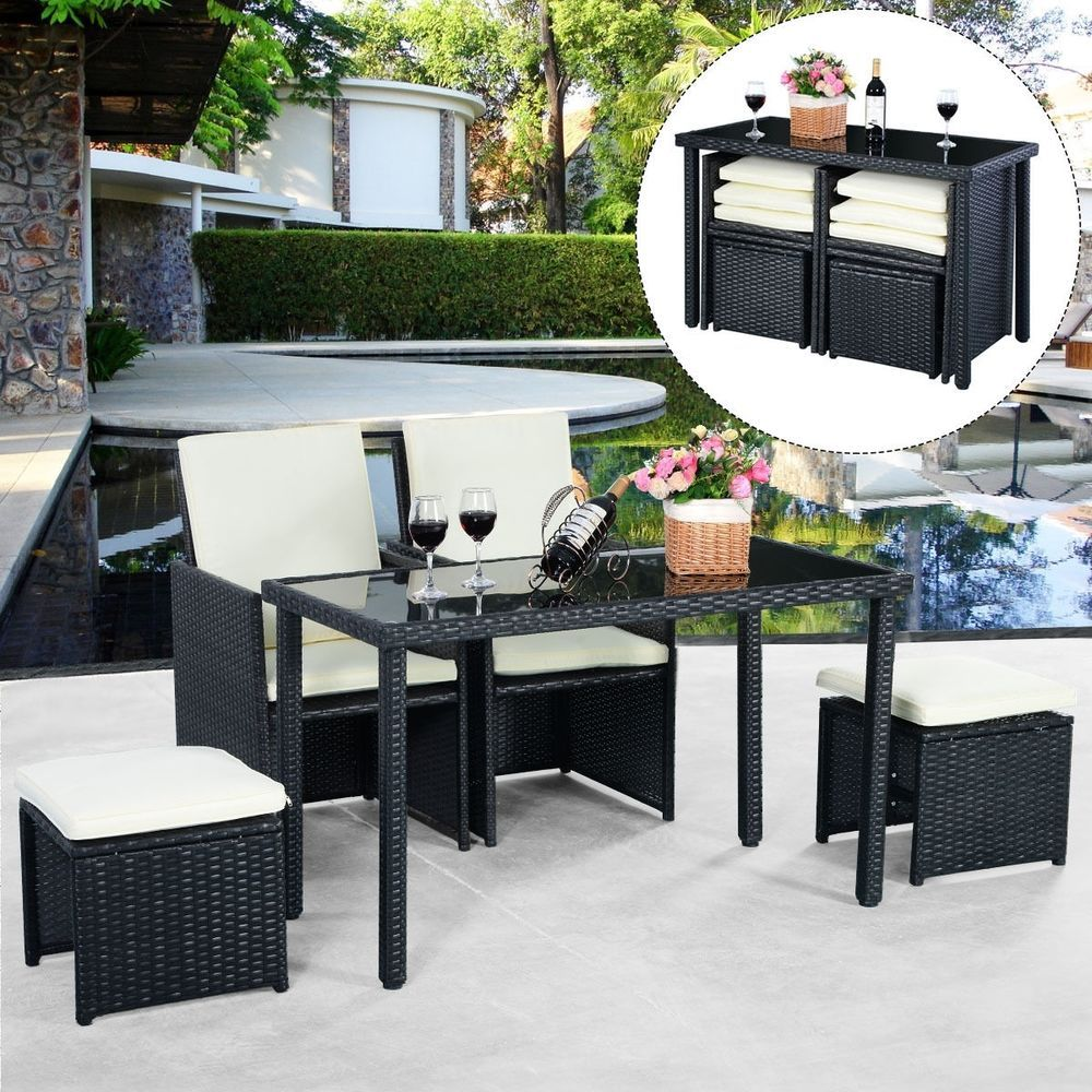 garden rattan furniture set outdoor coffee table tea seat patio rh pinterest co uk