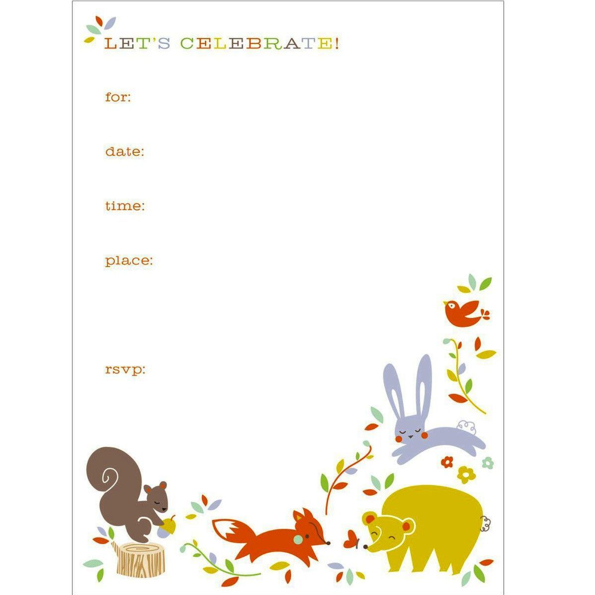Forest Friends Invitation | Themed parties, Party invitations and ...