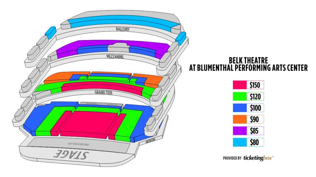 The Stylish Belk Theater Seating Chart In 2020 Seating Charts Theater Seating Performing Arts Center