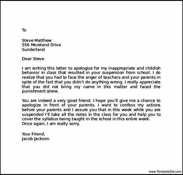 apology letter friend after bad behaviour templatezet for behavior - Sample Invitation Letter