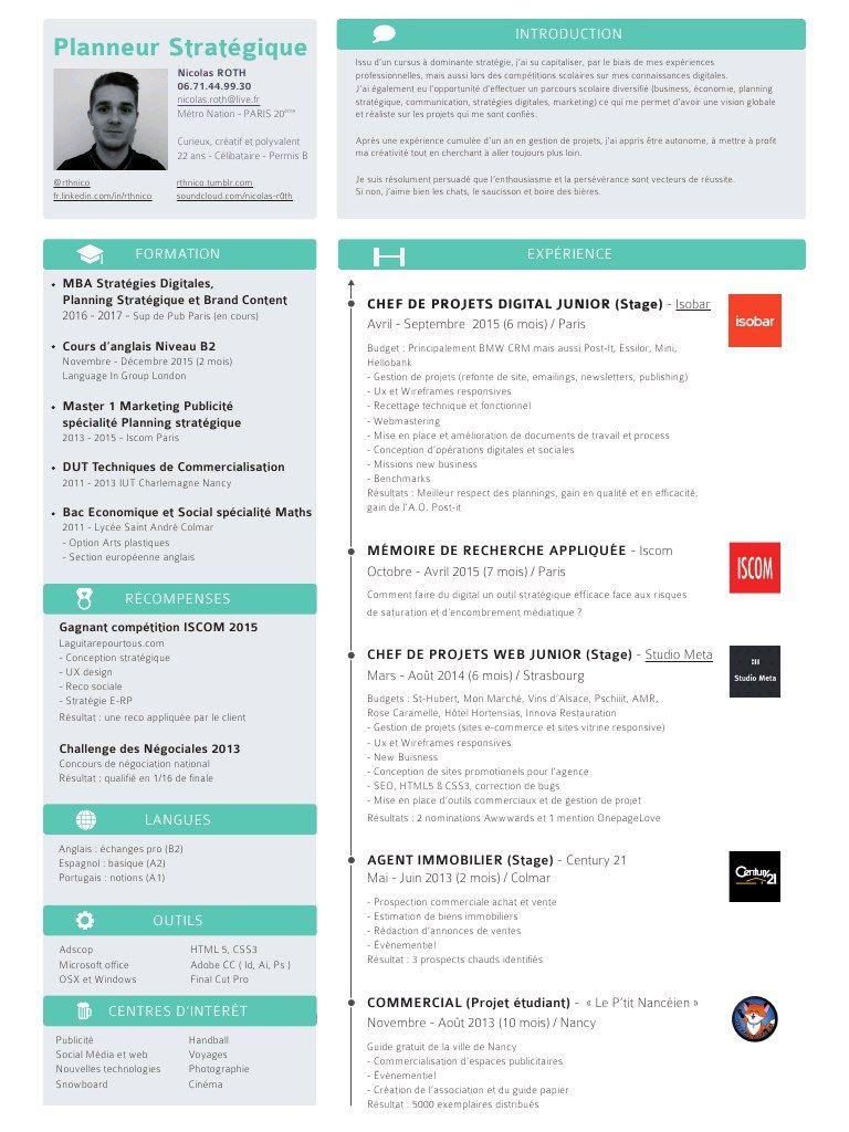 Cv Chef De Projet Digital Google Search Chef De Projet Digital Cours Anglais Digitale