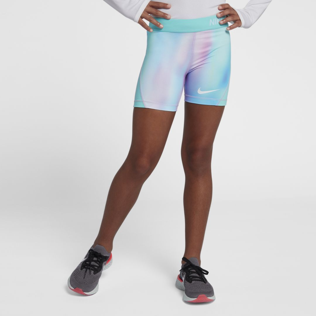Nike Girls Pro Printed Shorts