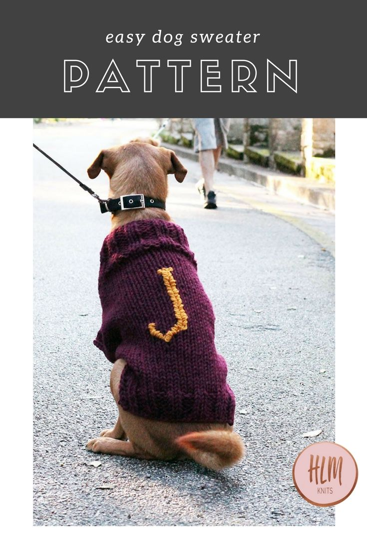 The Mischief Managed Dog Sweater - Free Knitting Pattern | Sweater ...