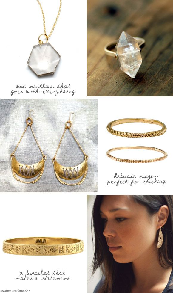 My Jewelry Wish List for Summer - Home - Creature Comforts - daily inspiration, style, diy projects + freebies