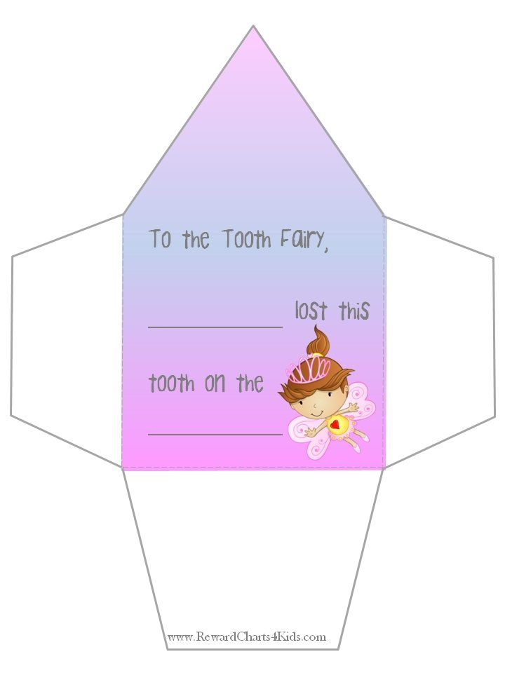 Tooth fairy envelope Tooth fairy envelope