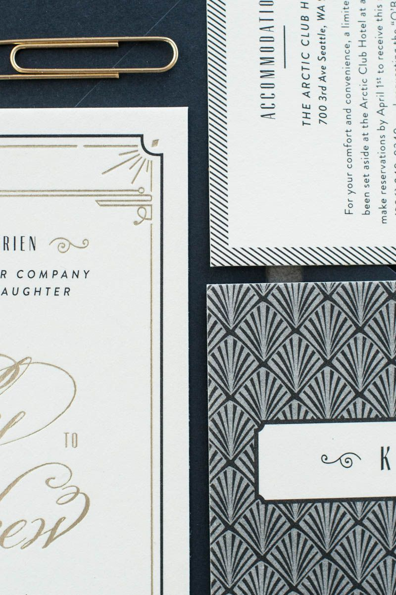 Blakely Matthew S Glamorous Art Deco Wedding Invitations Art