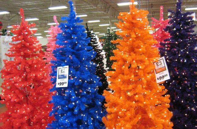 Multi-colored Christmas Trees (Garden Ridge) | Christmas! - Multi-colored Christmas Trees (Garden Ridge) Christmas