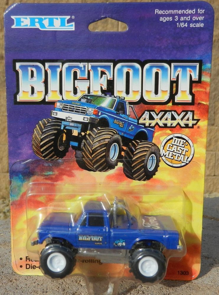 vintage 1980s ertl 1 64 bigfoot ford monster truck. Black Bedroom Furniture Sets. Home Design Ideas