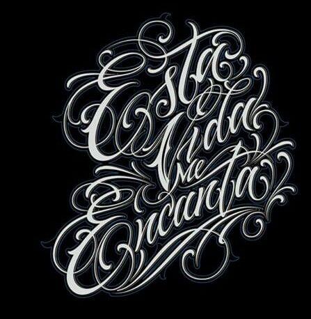 Esta Vida Me Encanta Estilos De Letras Arte Con Letras Tipos De Letras Graffiti