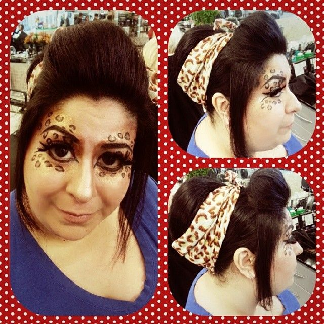 @hairbynorman #Leopardprint #makeup #retro #updo #webbparty2014 #hairbynorman @Jenn Agombar @Erica Miller #visiblechanges #vclc