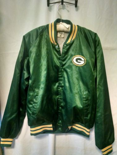 122393163 Satin Bomber Jacket Green Bay Packers Vintage Chalkline L in Sports ...