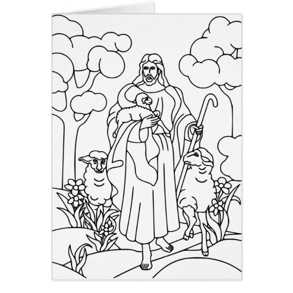 Jesus good shepherd card