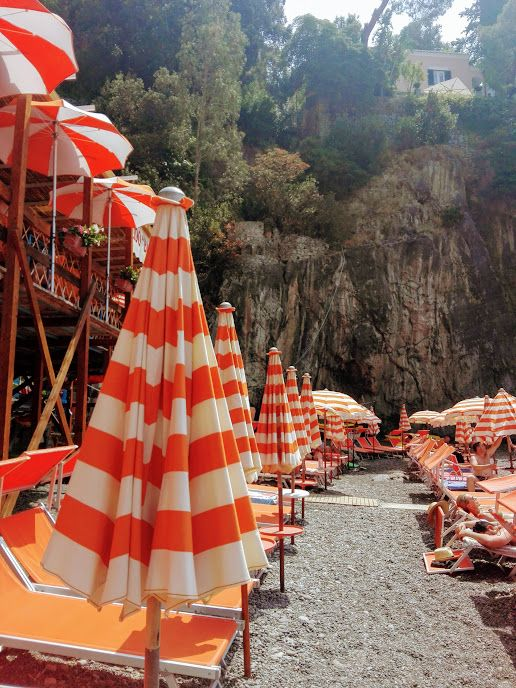 Positano, Italy | Colorful Beach Umbrellas | Sole Yoga Holidays
