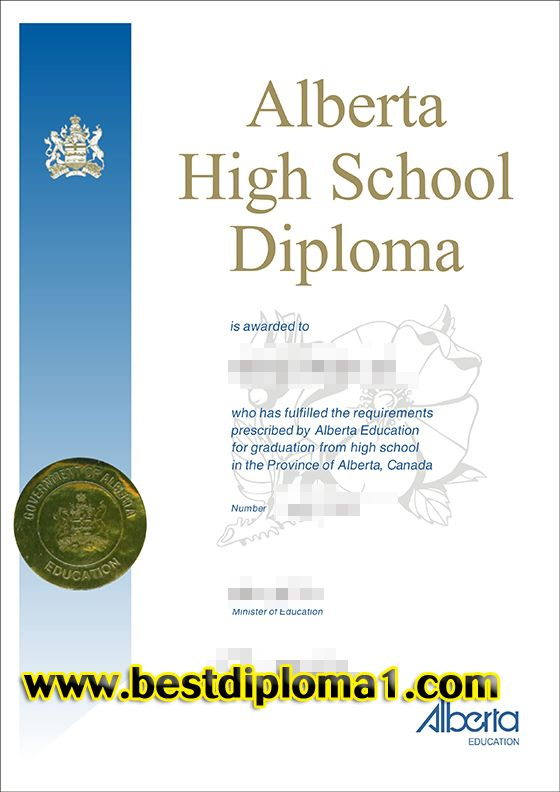 The Alberta High School Diploma,Buying Canada high school - sample school certificate