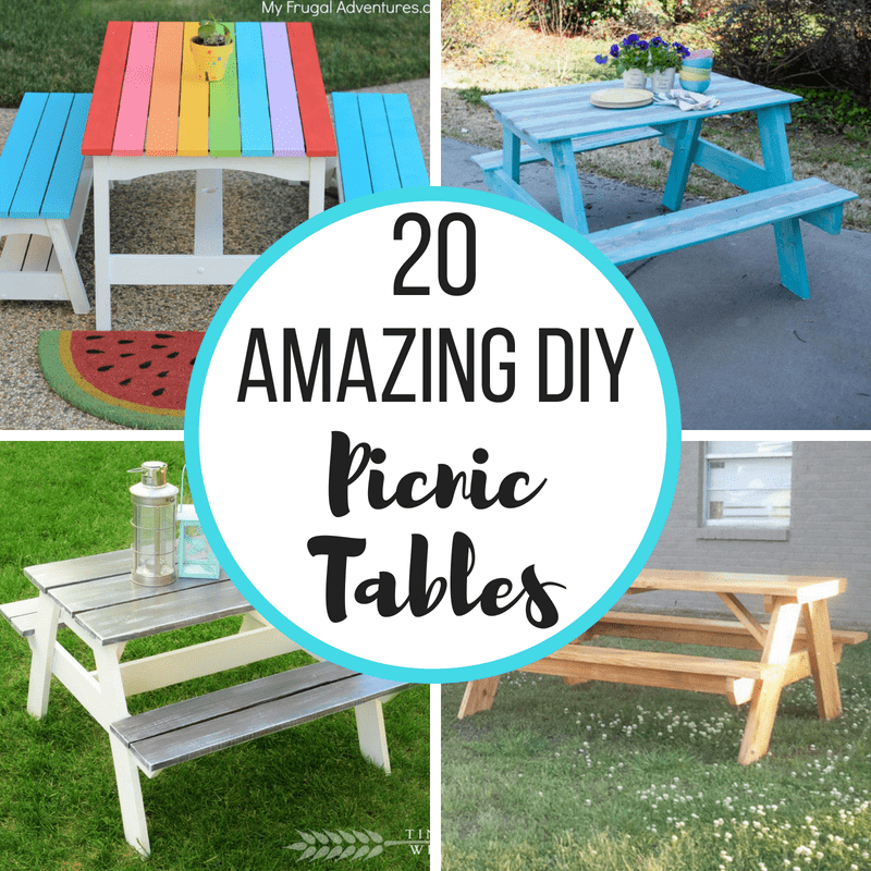 20 diy picnic table ideas to build this summer ana white plans rh ar pinterest com