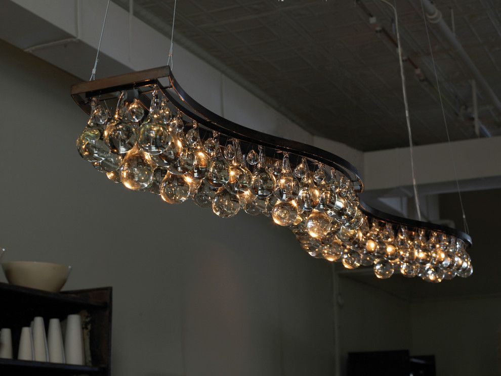 Double Wave 200cm Chandelier - contemporary - chandeliers - OCHRE