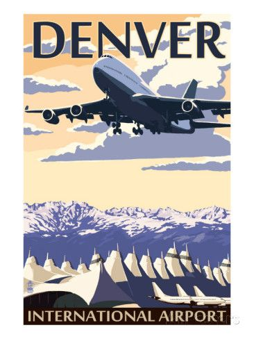 denver colorado airport view prints by lantern press hangar rh pinterest com