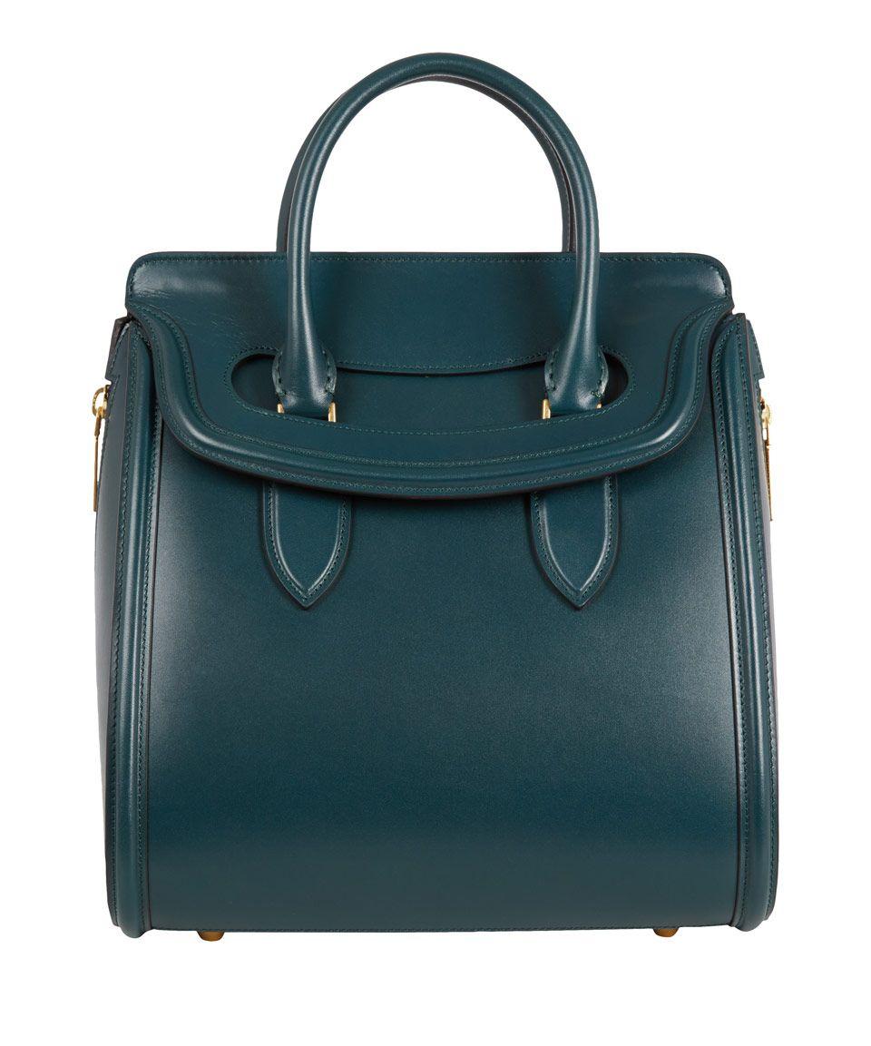 Alexander McQueen Medium Teal Heroine Leather Tote Bag | Designer Handbags by Alexander McQueen | Liberty.co.uk