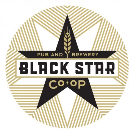 Black Star Coop Brewery logos, Star logo, Black star