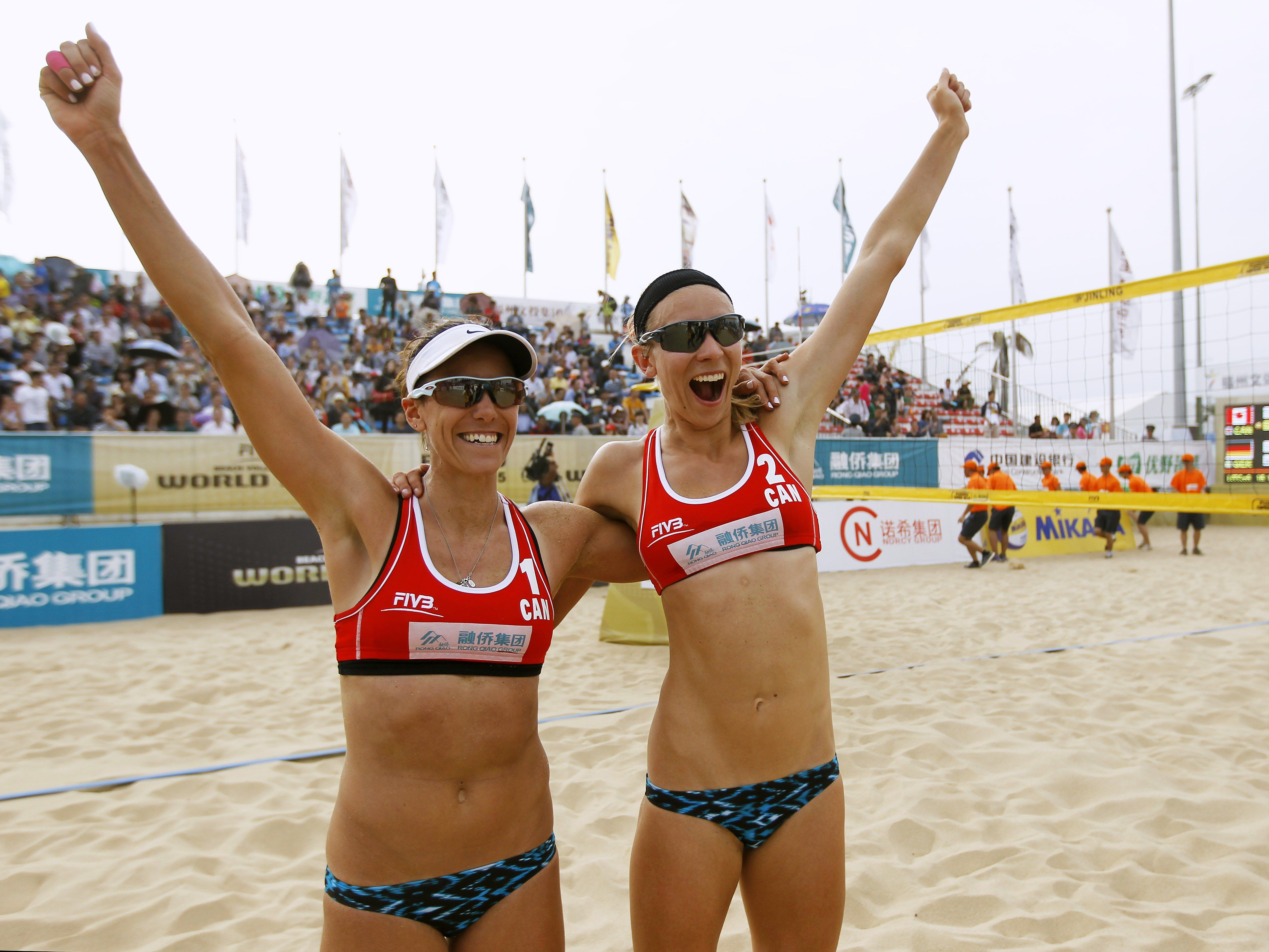 Beach volleyball team bikini