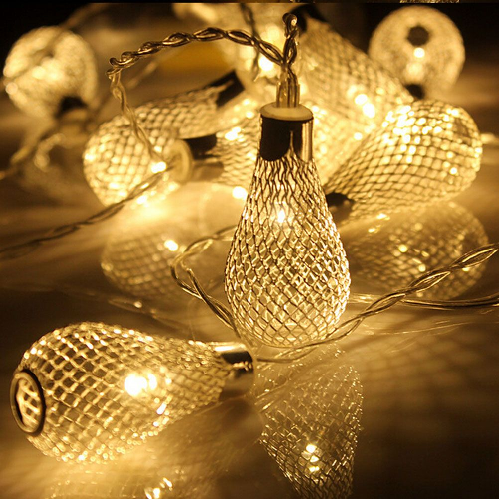 Cheap String Lights Brilliant 20Leds String Colored Lights In Iron Hollow With Water Drop Shaped 3