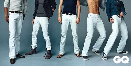 Men white denim jeans – Global fashion jeans models