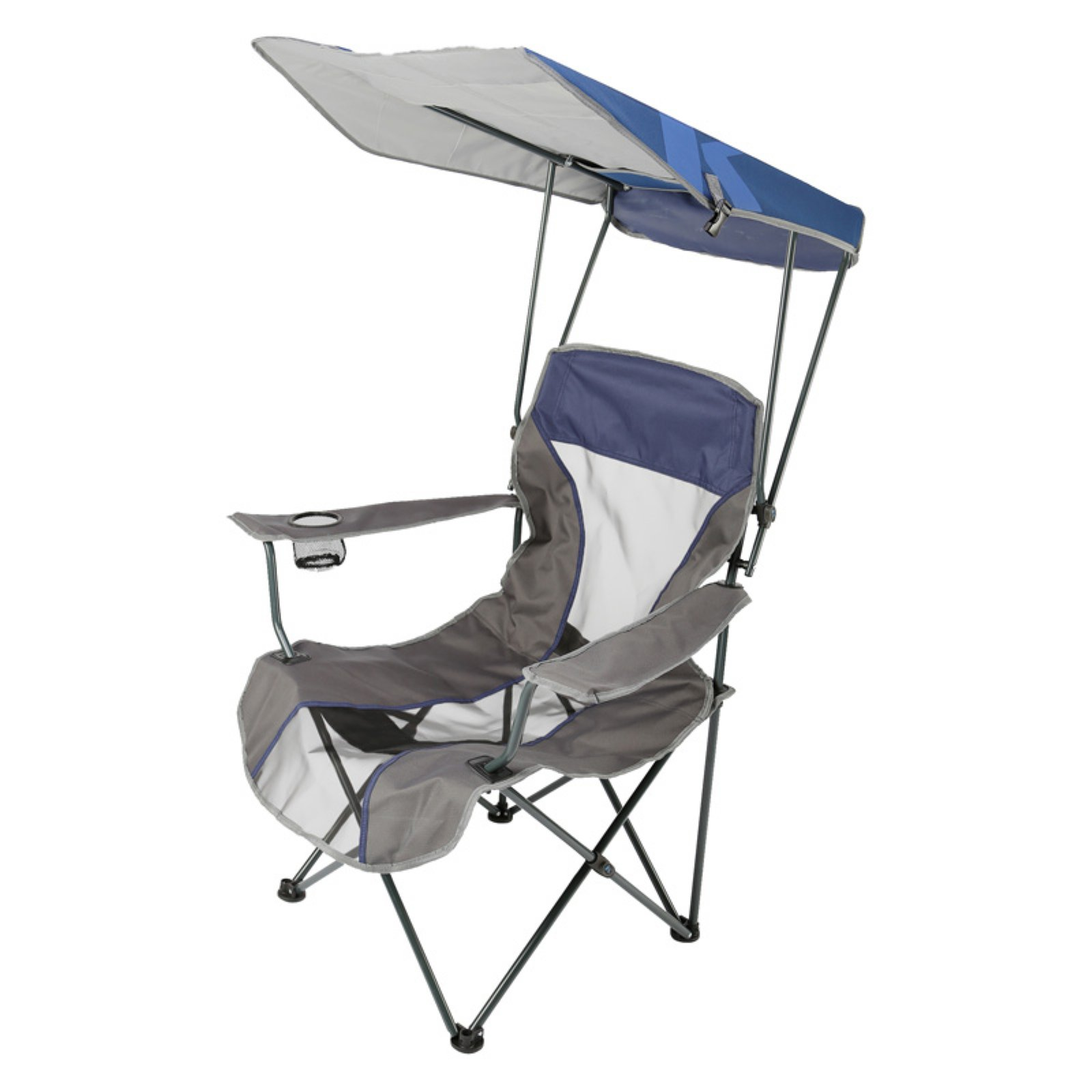 outdoor swim ways premium single lawn chair with canopy blue rh pinterest com