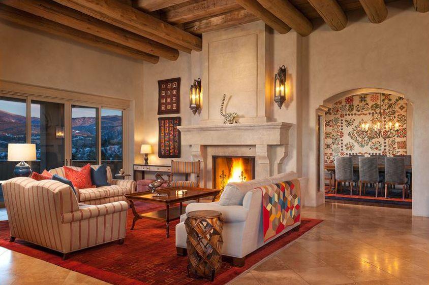 Southwestern Decorating Ideas Mediterranean Living Rooms Elegant Living Room Popular Living Room #southwestern #living #room #ideas