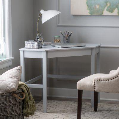 finley home gray corner laptop writing desk with optional reversible rh pinterest com