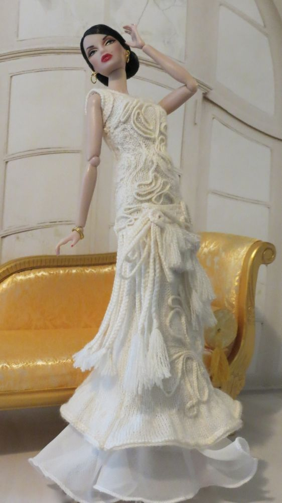 Francesca Doll Couture Knit- Fashion Royalty OOAK Gaultier Inspired Gown #dollscouture