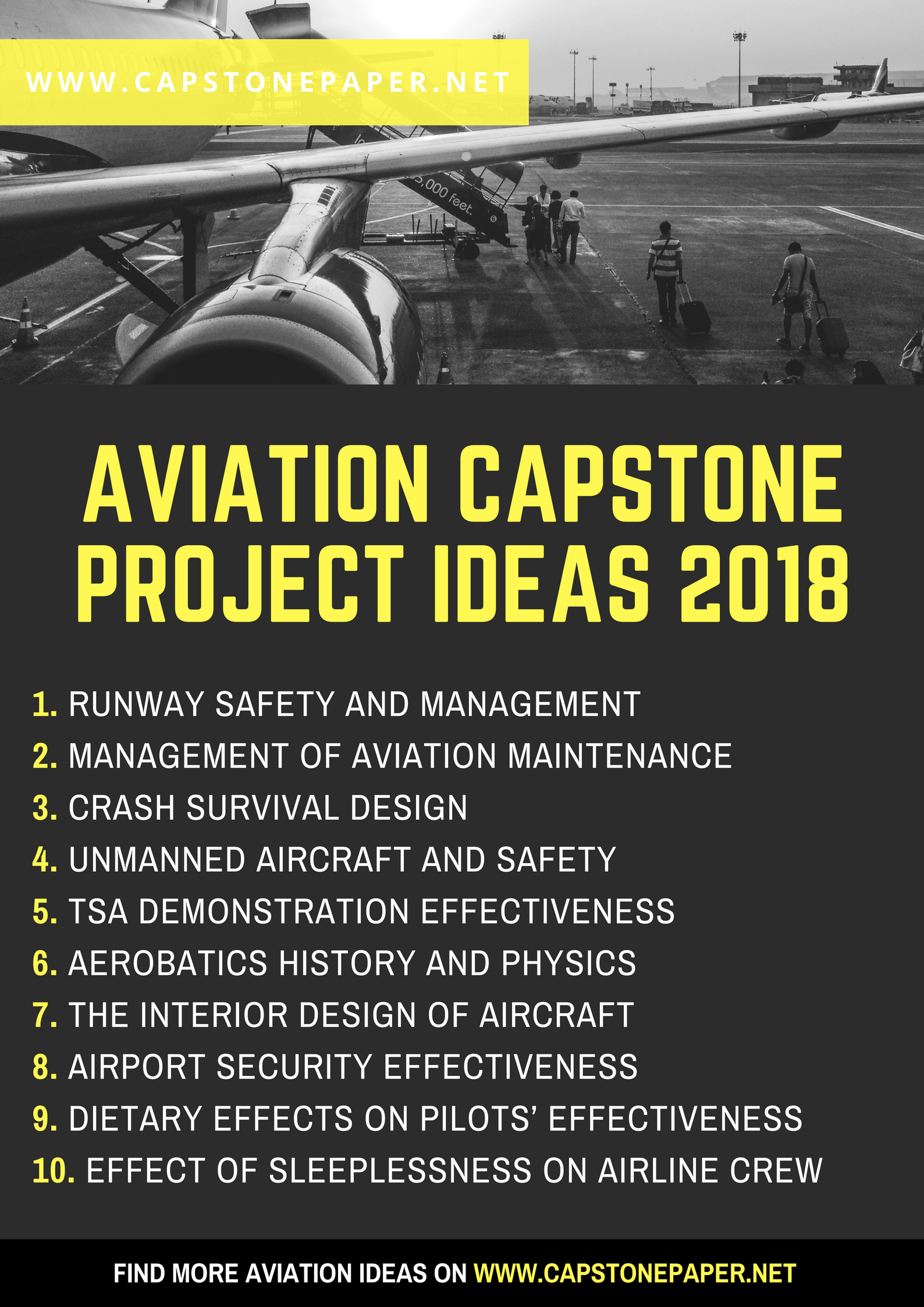 Aviation Capstone Project Ideas 2018 ✈️ Find more useful
