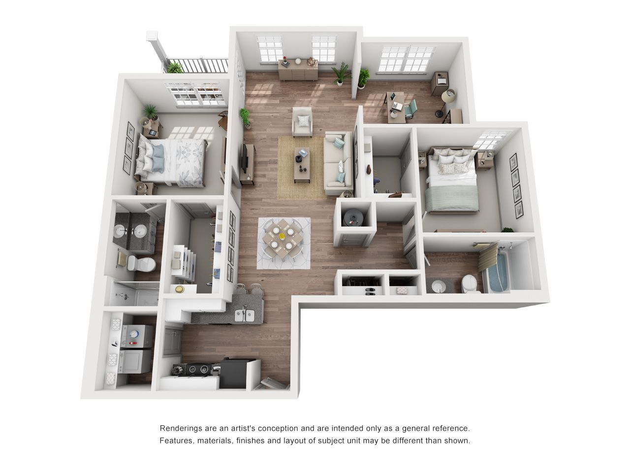 Floor Plans – Double Creek Flats plainfield indiana apartment ...