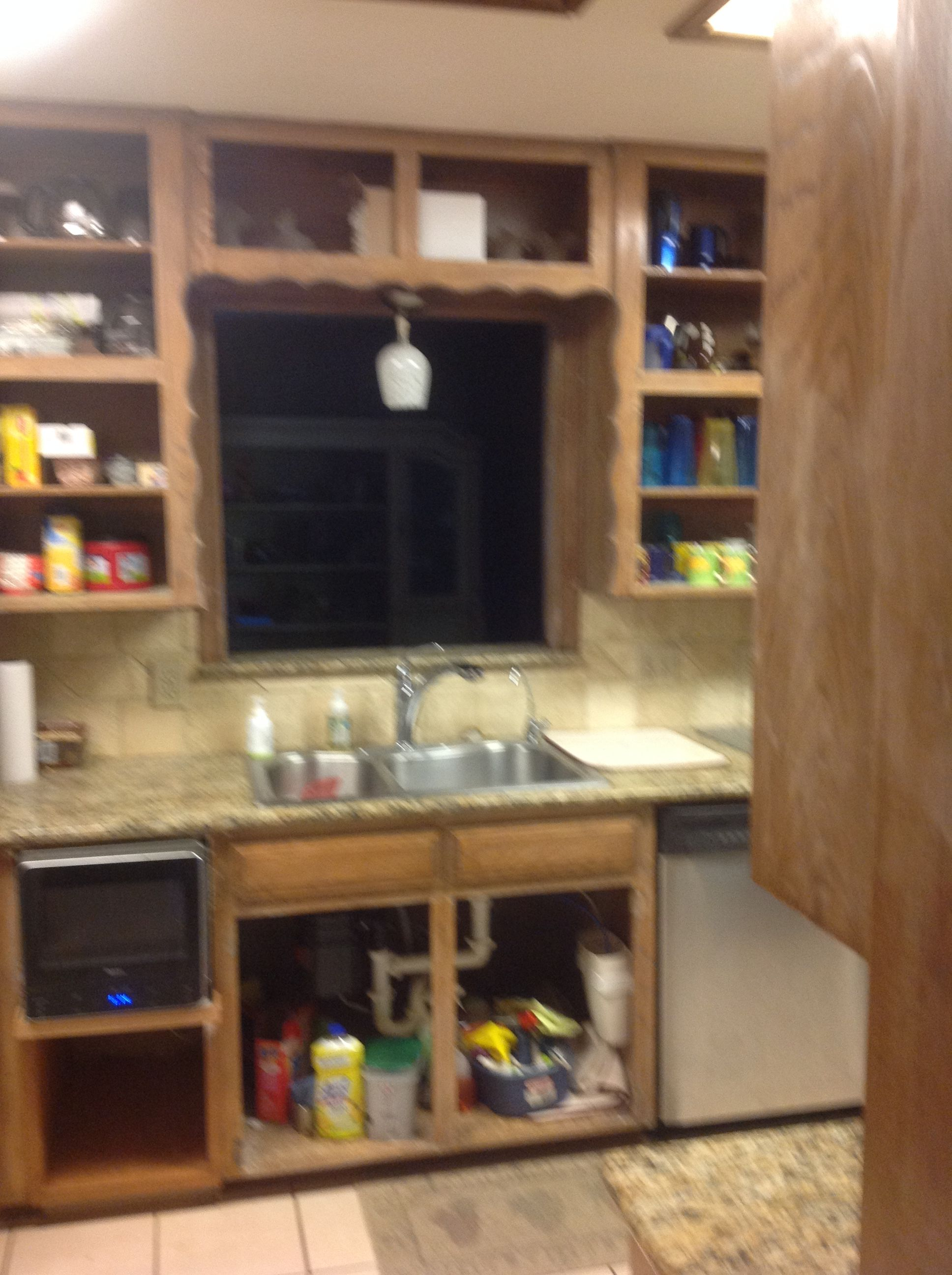 goodbye dark wood stain cabinets painting the cabinets antique rh pinterest de