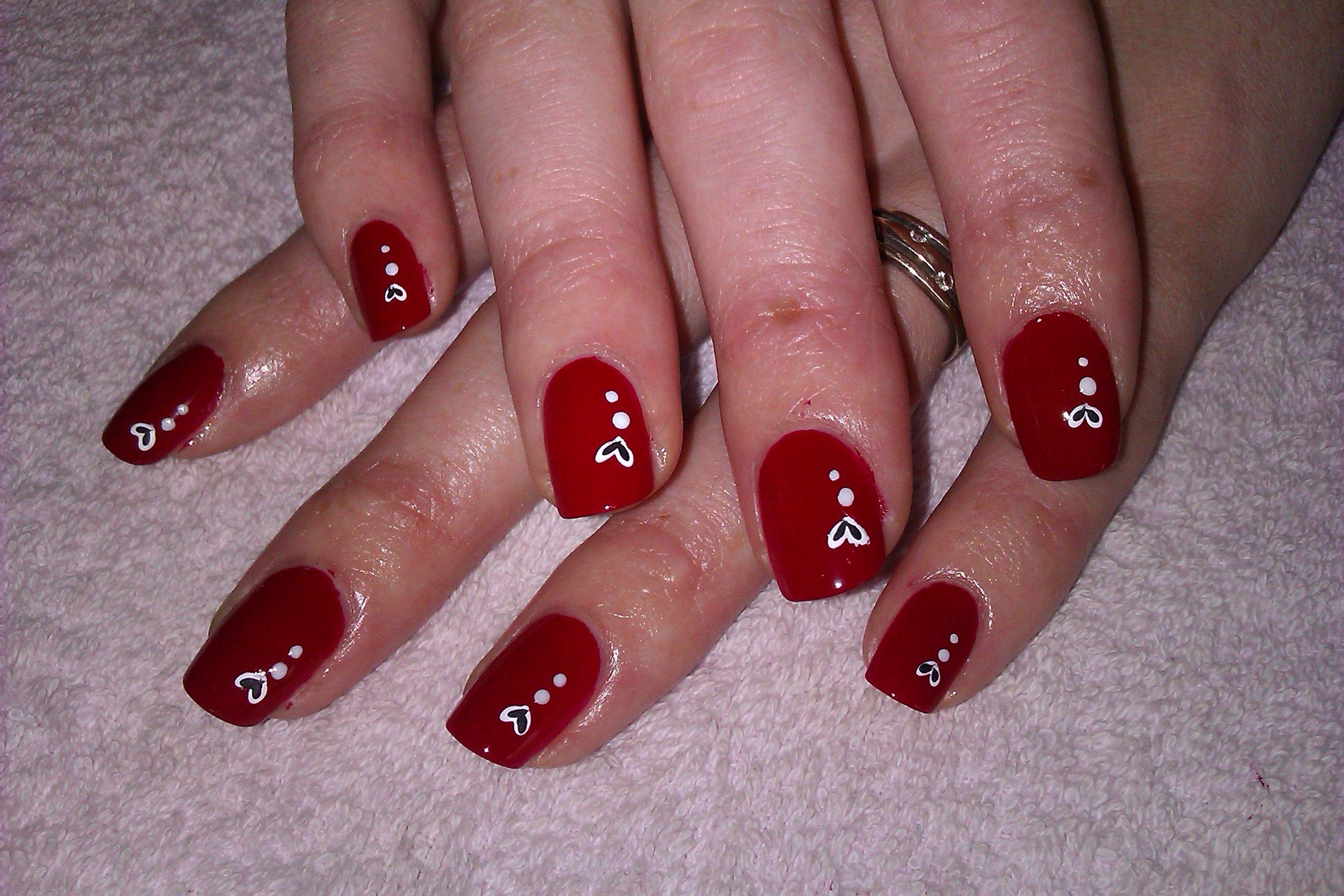 4 Diy Nail Art Designs Simple And Easy Red Nail Ideas For Beginners Wedding Nail Art Design Bridal Nail Art Nail Designs Valentines