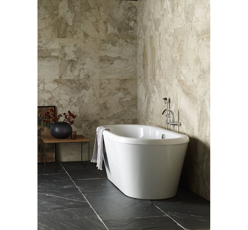 Urban Honed Limestone wall tiles combined with