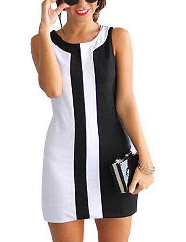Damen Hülle Kleid-Lässig/Alltäglich / Übergröße Einfach / Street Schick…
