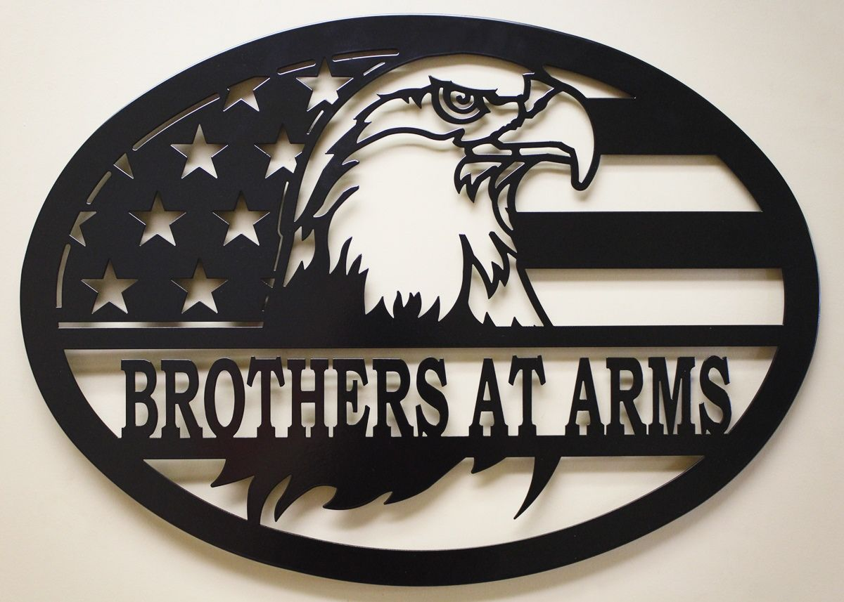 American Eagle Eagle Wall Art Personalized Wall Art Tin Art