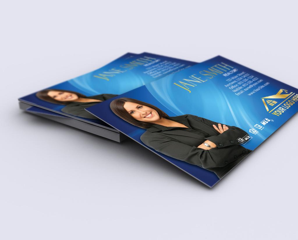 Realtor Business Card Design Mockup Realtor Business