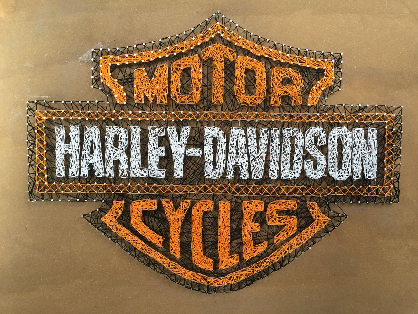 Made a Harley Davidson string art More