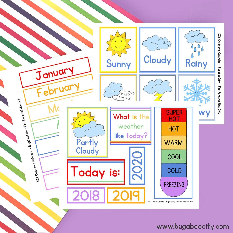 Diy Children S Calendar By
