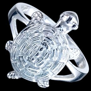 Sterling silver ring, turtle