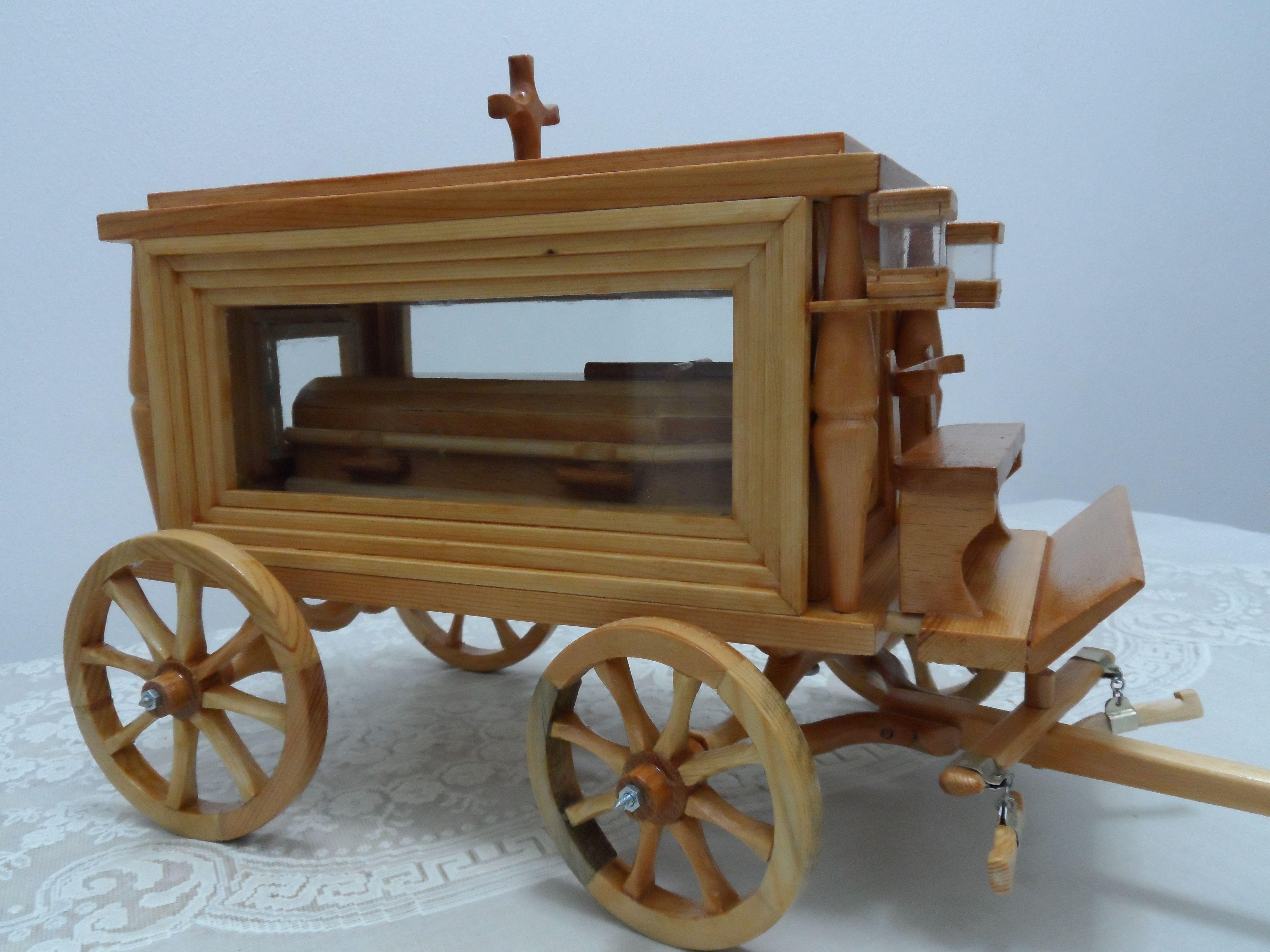 Cift Atli Cenaze Arabasi Wooden Toys Wooden Toy Car Wooden