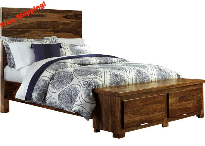 1406BQRS Madera Storage Bed Set - Queen - Rails Included