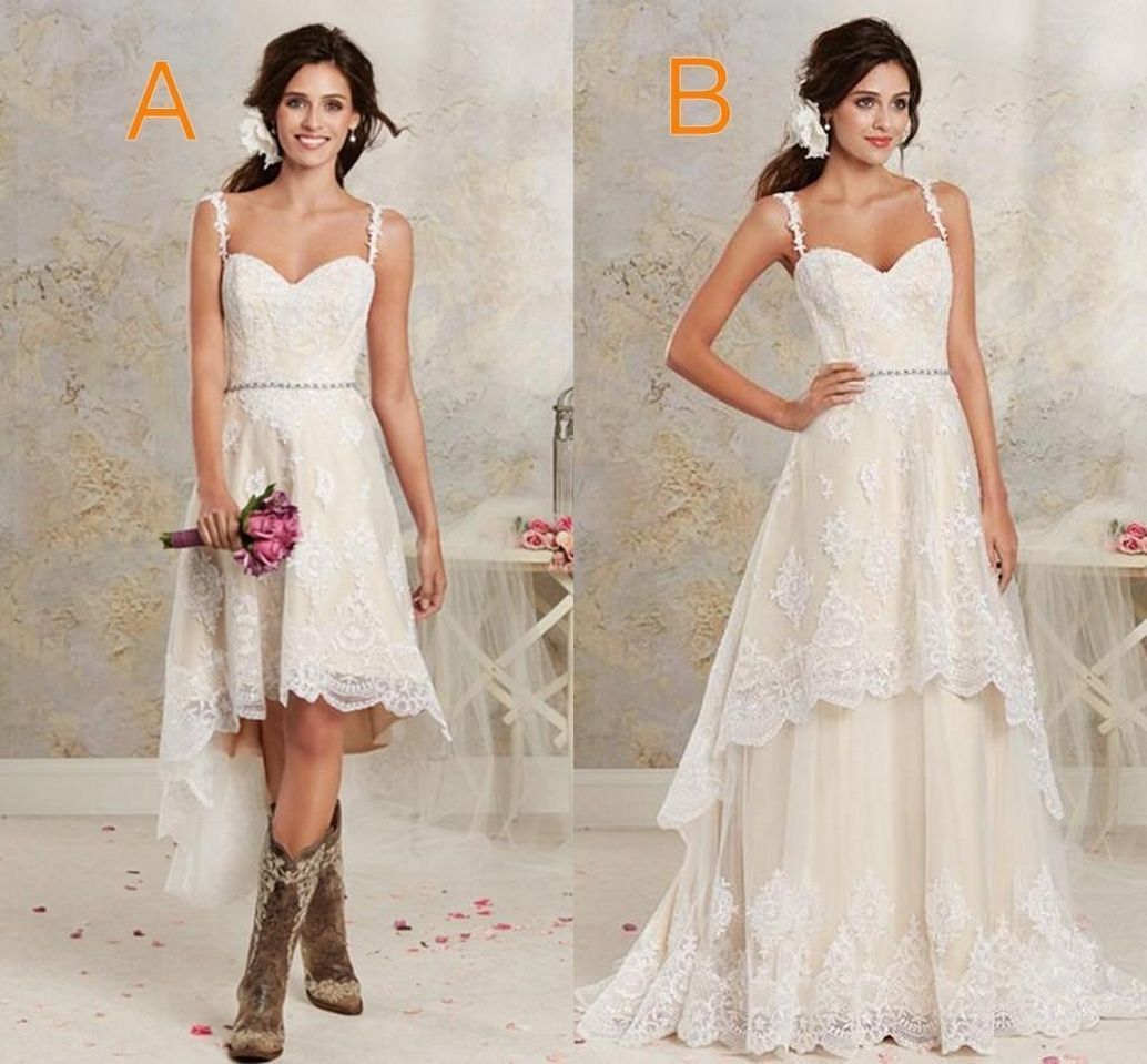Simple country style wedding dresses with boots trends ideas